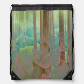 Collage of Oxalis and Trees | Seabeck, WA Drawstring Bag