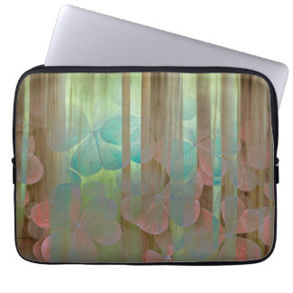 Collage of Oxalis and Trees | Seabeck, WA Laptop Sleeve