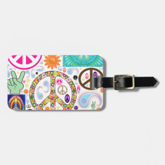 Collage of Peace Luggage Tag