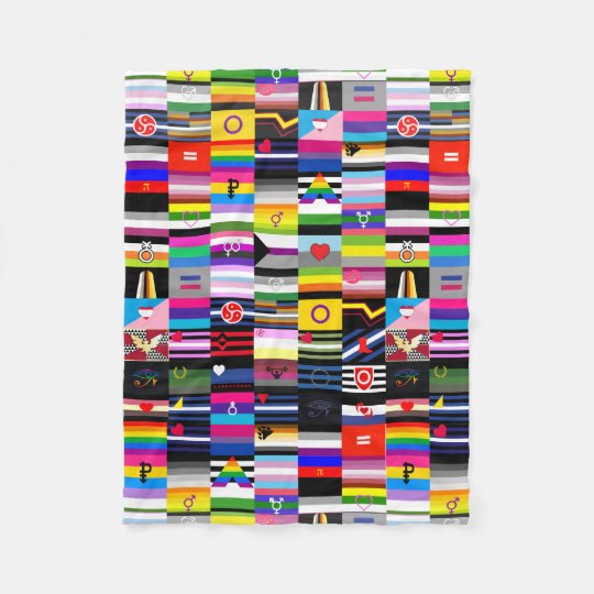 collage of pride flags fleece blanket zazzle com au