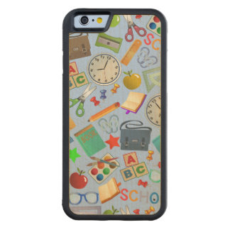 Collage of School Supplies Maple iPhone 6 Bumper Case