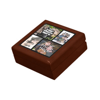 Collage Photo Wood Gift Box
