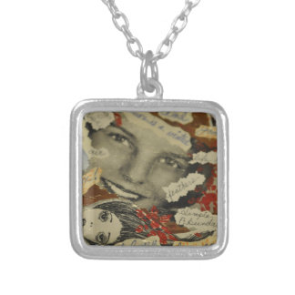 Collage products silver plated necklace