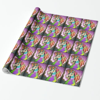 Collage Unicorn Wrapping Paper