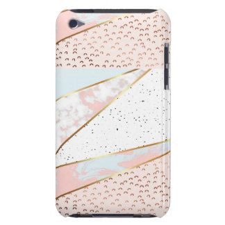 Collage,white marble,gold,silver,black,white,hand barely there iPod covers