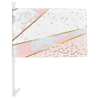 Collage,white marble,gold,silver,black,white,hand car flag