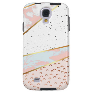 Collage,white marble,gold,silver,black,white,hand galaxy s4 case