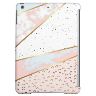 Collage,white marble,gold,silver,black,white,hand iPad air case