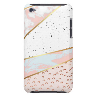 Collage,white marble,gold,silver,black,white,hand iPod touch cover