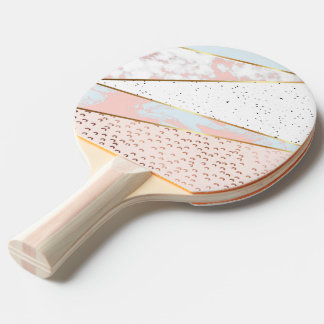 Collage,white marble,gold,silver,black,white,hand ping pong paddle