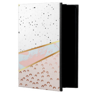 Collage,white marble,gold,silver,black,white,hand powis iPad air 2 case