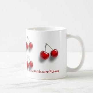 collage with cherries coffee mug