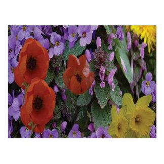 Collaged Floral Bouquet - Postcard