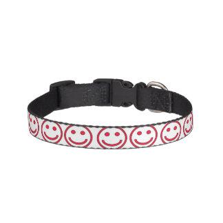 Collar of dog - smiling red pet collar