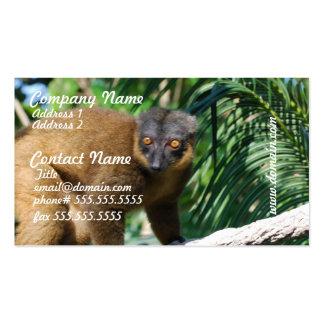 Collared Lemur Business Cards