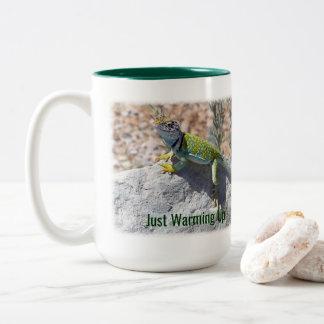 Collared Lizard Ringer Mug