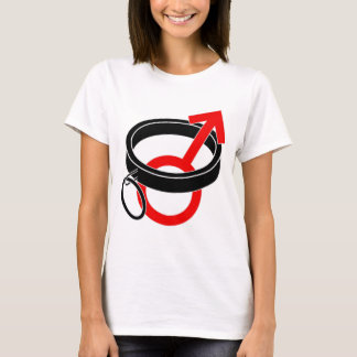 Collared male symbol. T-Shirt