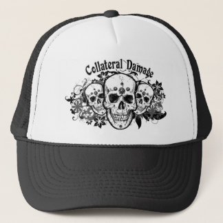 Collateral Damage Hawaiian Skulls Trucker Cap
