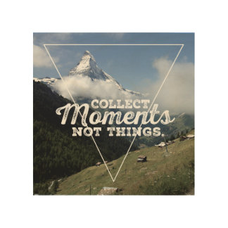 Collect of moment emergency Things - matte horn Wood Wall Decor