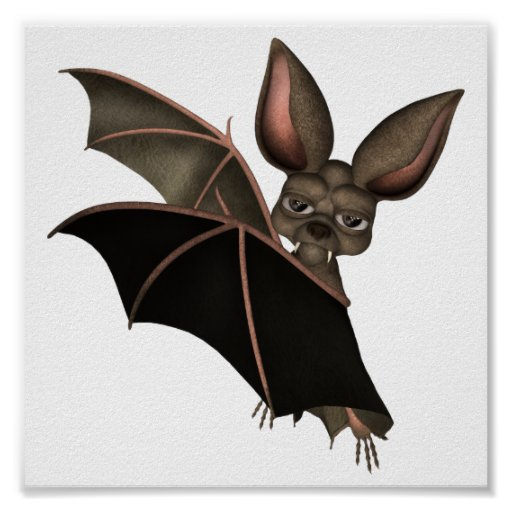 ♥ Collectible Art ♥ Vampire Bat ♥ (bat2) Posters