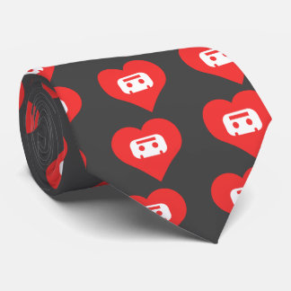 Collecting Cassettes Symbol Tie