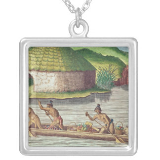Collecting Crops for the Communal Storehouse Silver Plated Necklace