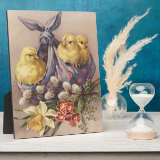 Collecting Easter Chicks Plaque