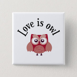 """Collection """"Coils is owl """" 15 Cm Square Badge"""