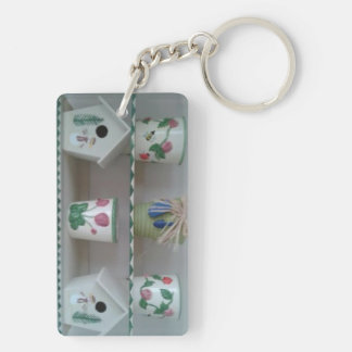 Collection Double-Sided Rectangular Acrylic Key Ring