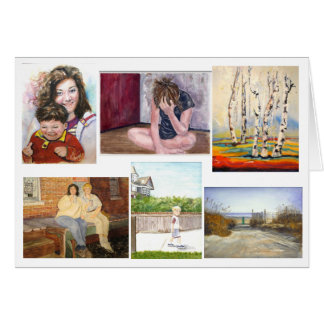 Collection of Artwork (2) greeting card