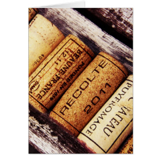 collection of french wine bottle corks card