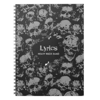 Collection of Gray Skulls Notebook