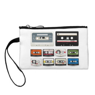 Collection of Retro Audio Cassette Tapes Change Purse