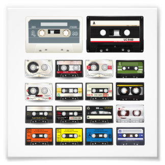 Collection of Retro Audio Cassette Tapes Photograph