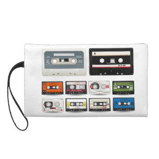 Collection of Retro Audio Cassette Tapes Wristlets