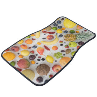 Collection of summer fruits car mat