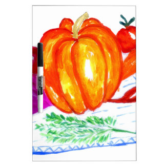 Collection of Vegetables Dry Erase Board
