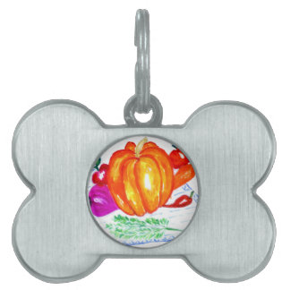 Collection of Vegetables Pet ID Tag