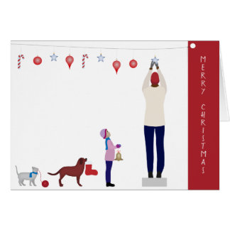 Collective Christmas Decoration Greeting Card