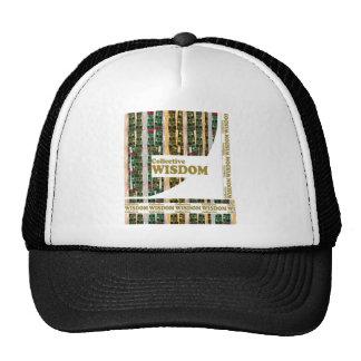 COLLECTIVE WISDOM Text Script Decorations Mesh Hats