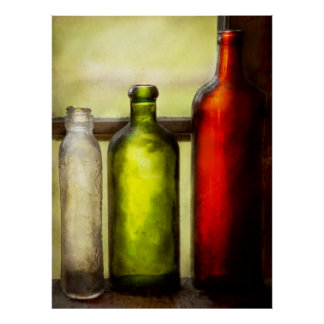 Collector - Bottles - Still life of three bottles Posters