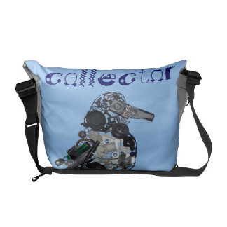"""Collector"" Found-Object Magpie Sculpture Courier Bags"