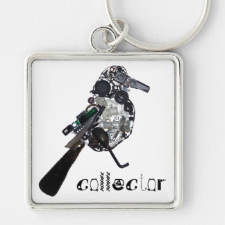 Collector Magpie Found-Object Sculpture Keychain