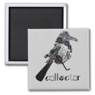 """""""Collector"""" Magpie Found-Object Sculpture Fridge Magnet"""
