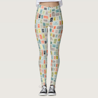 Collector of Stamps Pattern Leggings