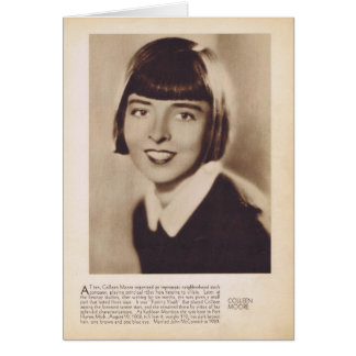 Colleen Moore silent movie actress portrait Card