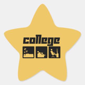 College 3 star sticker
