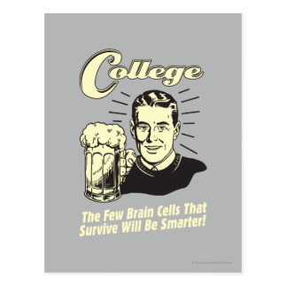 College: Brain Cells Survive Smarter Postcard