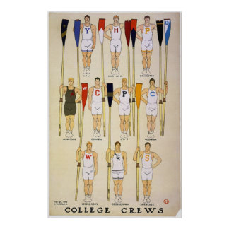 College Crews  & Colors Poster