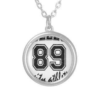 college design cute silver plated necklace